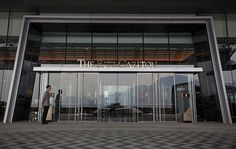 The Ritz Carlton Hotel entrance - West Kowloon