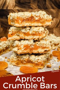 Apricot Cookies Recipe, Chewy Sugar Cookie Recipe, Apricot Jam Recipes, Apricot Ideas, Apricot Bars, Recipes Using Fruit, Best Dessert Recipes, Delicious Desserts, Apricot Dessert