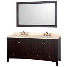 "72"" Audrey-72 Espresso Bathroom Vanity #BathroomRemodel #BlondyBathHome #BathroomVanity  #ModernVanity"