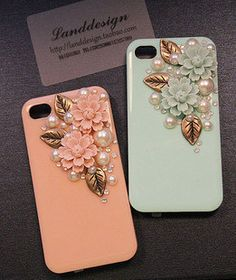 Bling iPhone case iPhone 4/4s crystal case iphone 5 case hard rainstone case iphone bling cover case handmade. $20.00, via Etsy.
