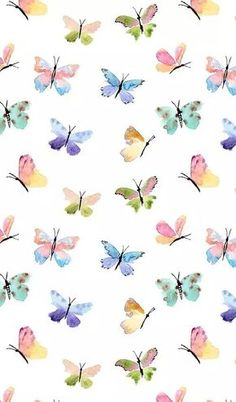 butterfly, wallpaper, and background image Butterfly Background, Background Patterns, Screen Wallpaper, Wallpaper Backgrounds, Butterfly Wallpaper Iphone, Emoji Wallpaper, Colorful Wallpaper, Watercolor Wallpaper Iphone, Trendy Wallpaper