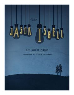 Jason Isbell designed by Ellen Springer Gig Poster, Concert Posters, Poster Prints, Vintage Music Posters, Americana Music, Expressive Art, Poster Designs, My Favorite Music, Rock Art
