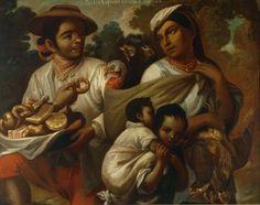 Círculo de Miguel Cabrera Siglo XVIII Óleo sobre tela 90 X 110 X 4 cm Colección Particular. De Coyote e India, Chamizo - 3 Museos