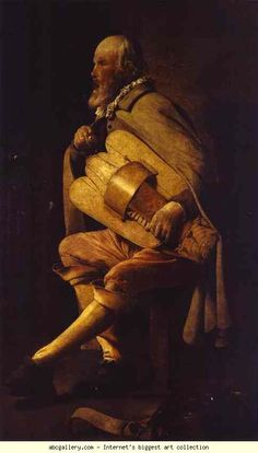 Georges de La Tour. Hurdy-Gurdy Player. Olga's Gallery.