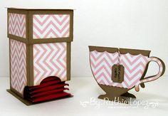 Mosipis - Chevron I - Tea bag dispenser - Tea cup card - Ruthie Lopez - My Hobby My Art