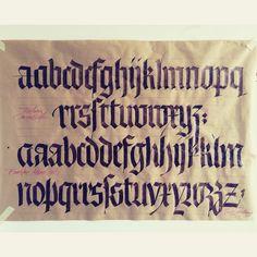 Luca Barcellona - Calligraphy - Blackletter Fraktur Gothic