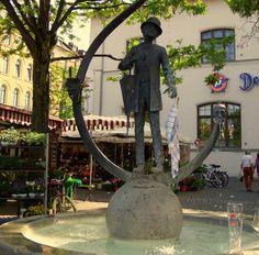 München -Karl  Valentin Brunnen