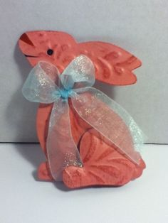 Easter Rabbit Painted Craft Decoration #Unbranded