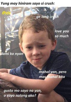 Memes Pinoy, Memes Tagalog, Tagalog Quotes, Bts Quotes, Filipino Quotes, Filipino Funny, Really Funny Memes, Stupid Memes, Memes Humor