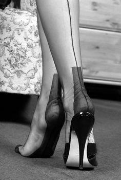 Vintage stocking feet