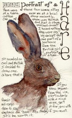 The quirky tale of a portrait of a hare...