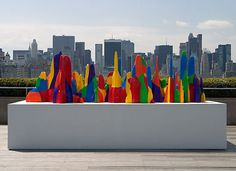 Sol LeWitt's Splotch #3. Perfect with the NYC skyline!