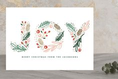 Woodland Joy Foil-Pressed Holiday Cards by Kristie... | Minted
