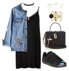 """""""Untitled #275"""" by gr20gk on Polyvore featuring River Island, Charlotte Russe, adidas and Dolce&Gabbana"""