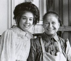 """Behind the scenes from """"Anne of Avonlea"""", Megan Follows and Colleen Dewhurst-1990"""