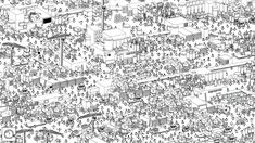 If you love adult coloring books, you'll enjoy 'Hidden Folks'