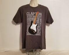 Eric Clapton 70th Birthday Celebration Large Adult Gray Concert TShirt