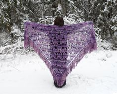 Crochet Mohair Shawl Christmas Gift by UnlimitedCraftworks on Etsy