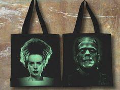 Book Bag Frankenstein and Bride Back to by SunsetPrintAndDye, $18.00