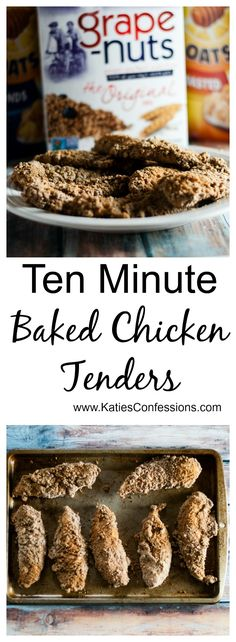 These chicken tenders are coated in a grape nuts breading for an awesome crunch.  #singwithpost #cerealanytime #ad