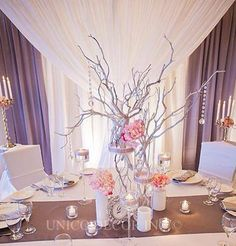 Elegant backdrop with a stunning centrepiece