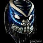 New Predator Helmet Street Fighter Style DOT Approved Blue