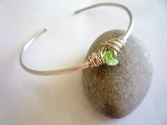 Cuff bracelet Sterling silver cuff bracelet Peridot by Iridonousa Peridot Bracelet, Sterling Silver Cuff Bracelet, Green Gemstones, Green Peridot, Sell On Etsy, Shopping Mall, Indie, Shops, Collections