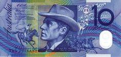 Australian $10 decimal polymer note - Front.