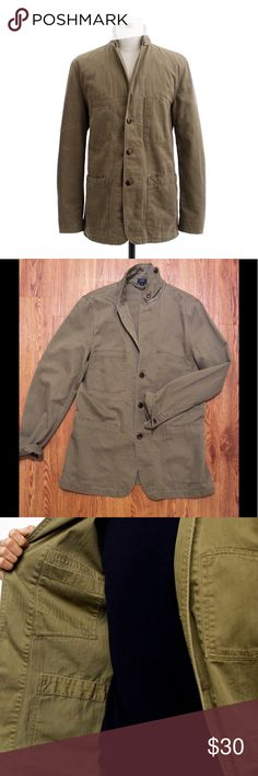 J. Crew Army Jacket Size S, Herringbone pattern, gently used, cotton J. Crew Jackets & Coats Military & Field