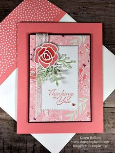 Picks from My Pals Stamping Community! (Mary Fish, Stampin' Pretty The Art of Simple & Pretty Cards) Stampin Pretty, Sympathy Cards, Greeting Cards, Pretty Cards, Simple Art, Flower Cards, Homemade Cards, Stampin Up Cards, Your Cards