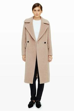 The classic coat silhouette gets a dramatic upgrade with a wide collar.Club Monaco Celise Mohair Coat, $795, available at Club Monaco....