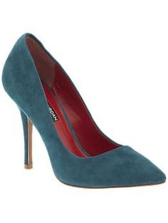 I am loving teal for fall. Charles Jourdan Clare   Piperlime