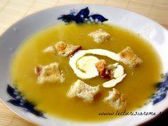Supa crema de sparanghel - Lecturi si Arome Cheeseburger Chowder, Thai Red Curry, Vegetarian Recipes, Pudding, Ethnic Recipes, Desserts, Soups, Tailgate Desserts, Deserts