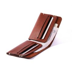 Light Brown Leather Wallet Men's Wallet Handmade by WRBLStore Mais