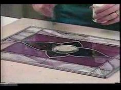 how to add a came border to your stained glass