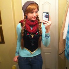 Pin for Later: 45 Anna and Elsa Costume Ideas For a Frozen Halloween Casual Anna This disneybounding version of Anna is easy to pull off (just a little DIY required).