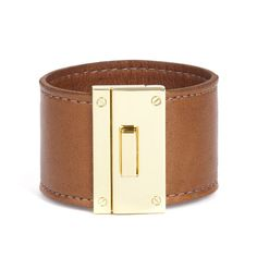 tan leather cuff
