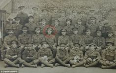 Jack Satterthwaite, circled, led his platoon for almost two years until he was shot dead i...
