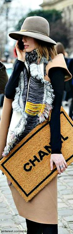 GLAM Chanel Doormat   The House of Beccaria#