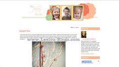 Farley White Premade Blog Design