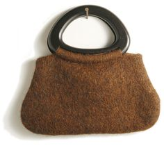 An easy felted tote with a lovely wooden handle.