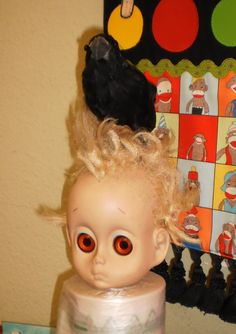 """Scary doll friend with friend...""""little Miss No Name"""" by Hasbro"""