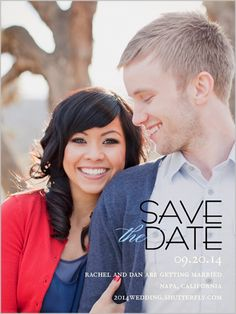 Elegant Date 4x5 Stationery Card | Save the Date | Shutterfly
