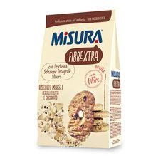 misura - fibre extra - biscotti muelsi cereali frutta cioccolato