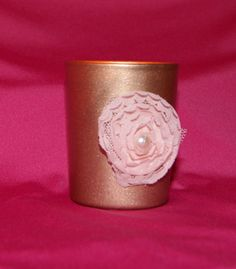 Rose Gold Wedding / Wedding Votive Candle by CarolesWeddingWhimsy,  This set of 6 Rose Gold and Blush Wedding Votive Candle Holders with a Pearl are perfect for many different weddings, but especially a Spring Wedding  , Shabby Chic Wedding, and English Garden Wedding. You can find it here https://www.etsy.com/listing/278132912/rose-gold-wedding-wedding-votive-candle