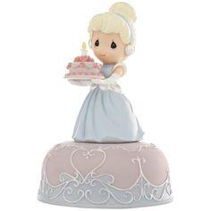 Disney Cinderella Birthday Musical Figurine by Precious Moments Disney Princess Birthday, Disney Princess Cinderella, Cinderella Birthday, Disney Princesses, Princess Party, Princess Cakes, Disney Precious Moments, Precious Moments Figurines, Walt Disney