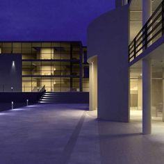 Urban bollard light / contemporary / aluminum / LED CITY-LIGHT Siteco