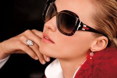 Geometric designs and sophisticated lines from Ralph Lauren Deco Eyewear
