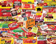 Bacon Jigsaw Puzzle.   Bacon 101.   1000 piece puzzle by White Mountain Puzzles