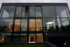 stunning glass house